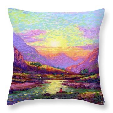 Waves Of Illumination Throw Pillow