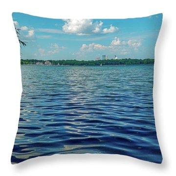 Waves On Lake Harriet Throw Pillow