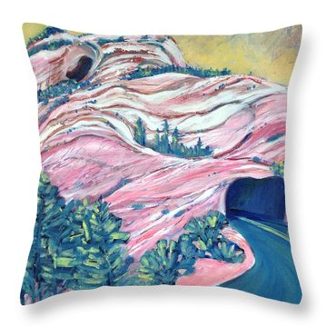 Wavy Rocks Throw Pillow