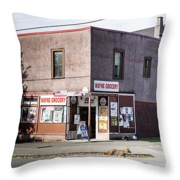 Throw Pillow featuring the photograph Wayne Grocery by Juan Contreras
