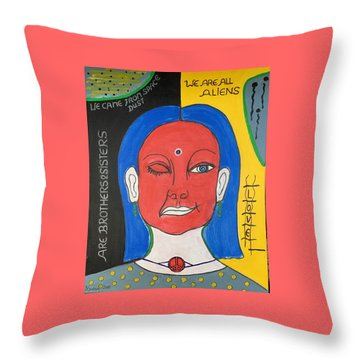We Are All Aliens Throw Pillow