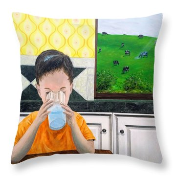 Throw Pillow featuring the painting We Are Starstuff by Kevin Daly