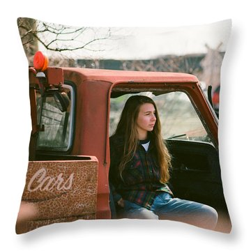 Throw Pillow featuring the photograph We Buys Cars by Carl Young