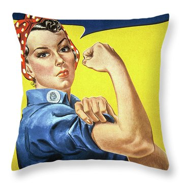 We Can Do It, 1942 Throw Pillow