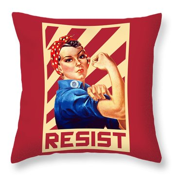 We Can Do It Rosie Resist Throw Pillow