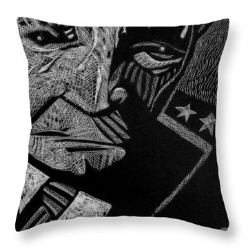 Weary Warrior. Throw Pillow
