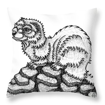 Weasel Throw Pillow