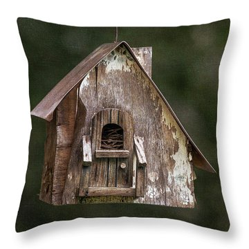 Throw Pillow featuring the photograph Weathered Bird House by Dale Kincaid