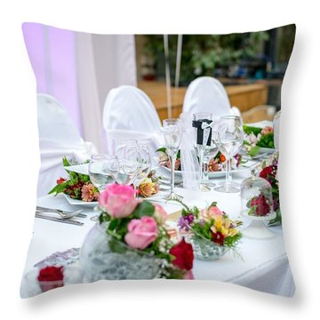 Wedding Table Throw Pillow