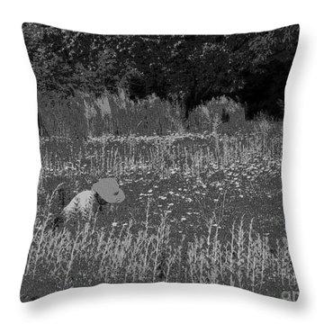 Weeding The Garden Throw Pillow