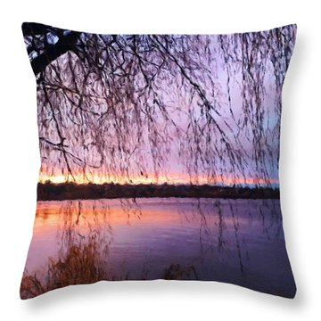 Weeping Tree Throw Pillow
