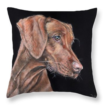 Weimaraner Portrait Throw Pillow