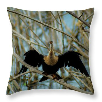 Welcome To The Stick Jungle Throw Pillow