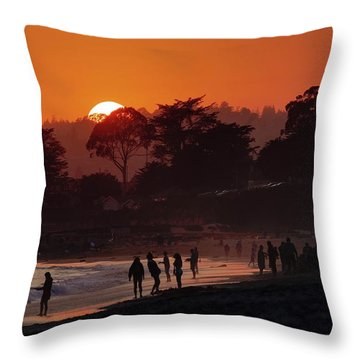 Throw Pillow featuring the photograph We'll All Be Gone For The Summer by Quality HDR Photography