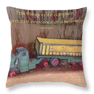 Well-worn Toy Throw Pillow