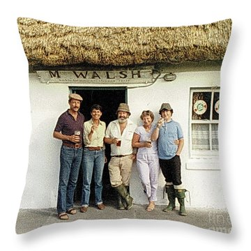 Throw Pillow featuring the photograph Well Worth The Drive Accros Lough Mask  by Val Byrne
