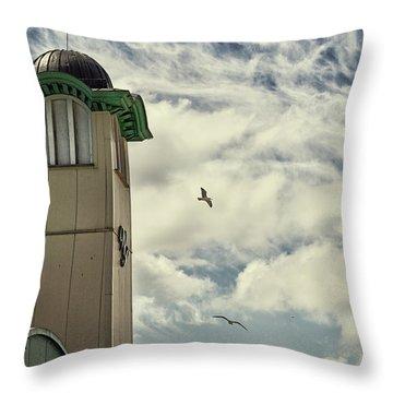 Throw Pillow featuring the photograph Wellington Pier Entertainment Centre Tower by Scott Lyons