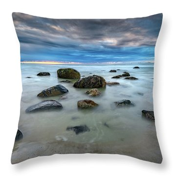 Throw Pillow featuring the photograph Wells Beach In Blue by Rick Berk