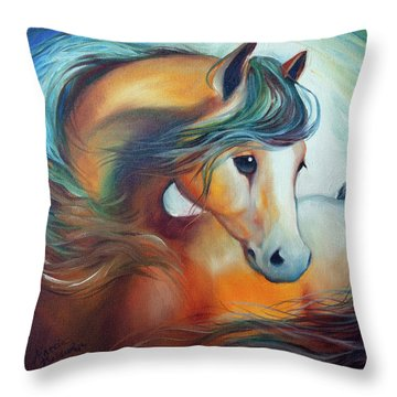 Wendy My Horse Throw Pillow