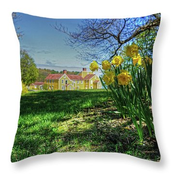 Wentworth Daffodils Throw Pillow