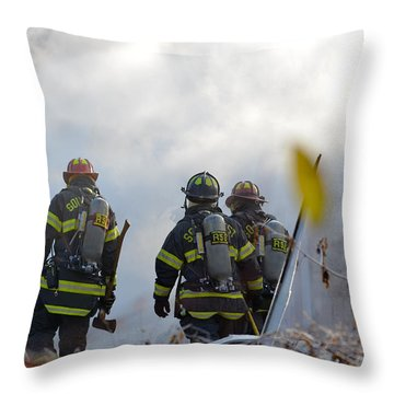 Throw Pillow featuring the photograph We're Going In by Carl Young