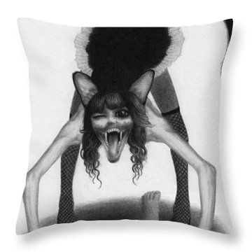 Wereneko Artwork Throw Pillow