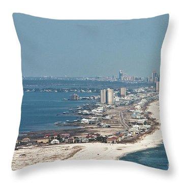 West Beach-1 Throw Pillow