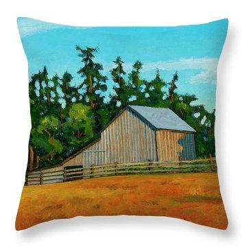 West Beach Barn Throw Pillow