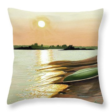 Throw Pillow featuring the painting West Dejardin Bay by Kenneth M Kirsch