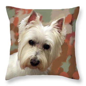 West Highland Terrier Throw Pillow