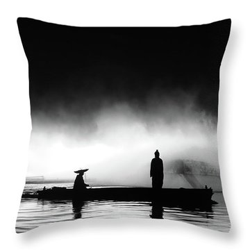 West Lake Throw Pillow