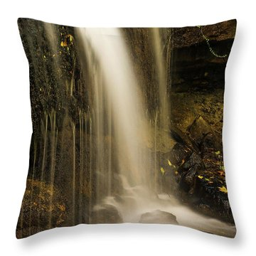 Throw Pillow featuring the photograph West Milton Falls Vertical by Dan Sproul