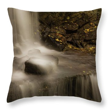 Throw Pillow featuring the photograph West Milton Waterfall Details by Dan Sproul
