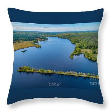 Throw Pillow featuring the photograph West Thompson Lake by Michael Hughes
