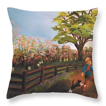 West Barn Throw Pillow