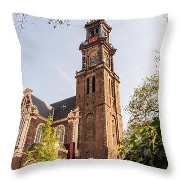 Westerkerk In Amsterdam Throw Pillow