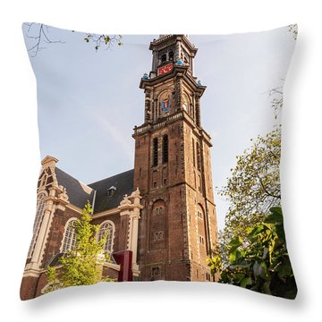 Westerkerk In Amsterdam Throw Pillow