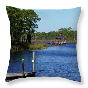Western Lake Florida Throw Pillow