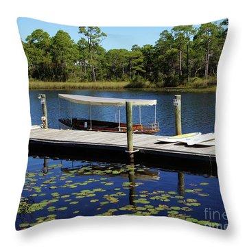 Western Lake Throw Pillow