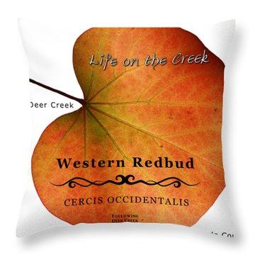 Western Redbud Throw Pillow