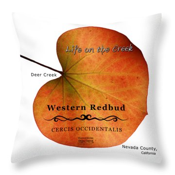 Western Redbud Throw Pillow
