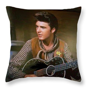 Western Ricky Nelson Throw Pillow