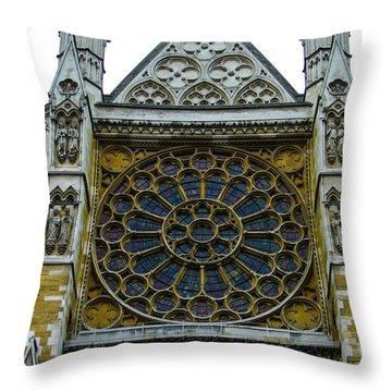 Westminster Abbey 2 Throw Pillow