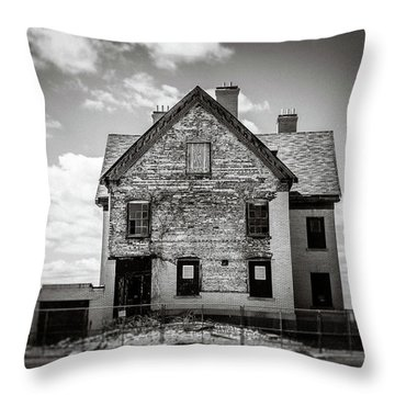 Throw Pillow featuring the photograph What Remains by Steve Stanger