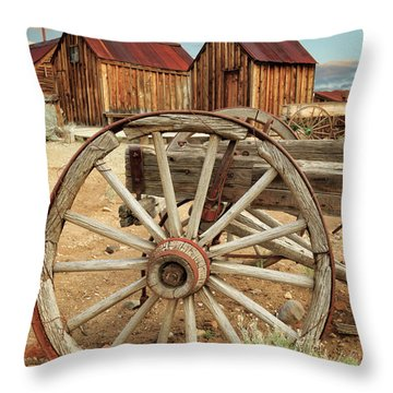 Wheels And Spokes In Color Throw Pillow