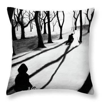 When She Returned... She Saw An Angel - Artwork Throw Pillow