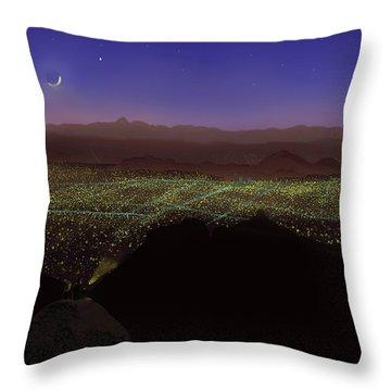 When Tucson's Lights Flicker On Throw Pillow