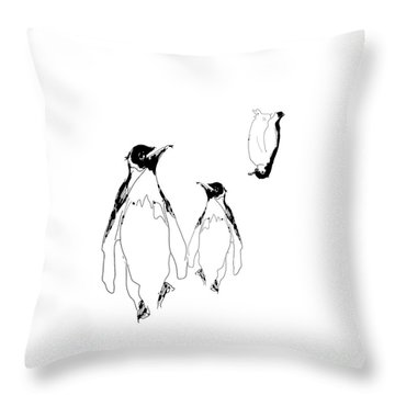 Where Is He? Throw Pillow
