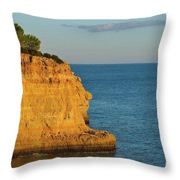 Where Land Ends In Carvoeiro Throw Pillow