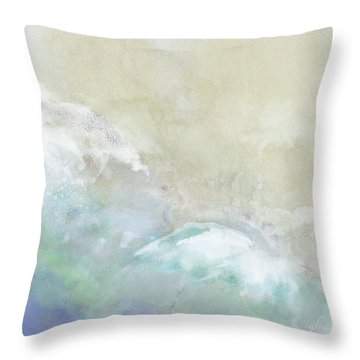 Throw Pillow featuring the digital art Where Sea Meets Shore by Gina Harrison